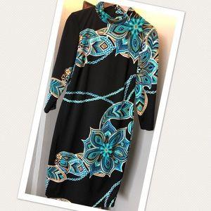 GORGEOUS Multi-Color Sz. 10 Cache' Midi Dress